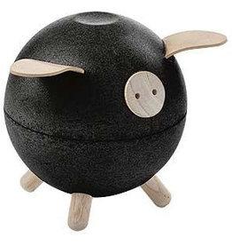 PlanToys Spaarvarken - Zwart
