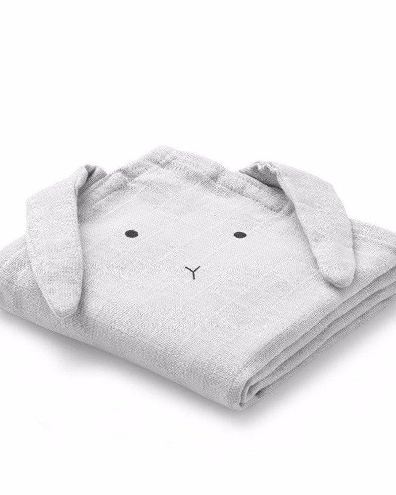 Liewood Set van 2 tetradoeken | Rabbit | Dumbo Grey
