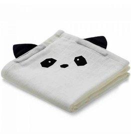 Liewood Set van 2 tetradoeken | Panda | Creme de la creme