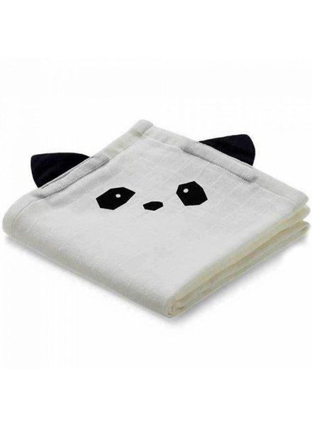 Liewood Set van 2 tetradoeken   Panda   Creme de la creme