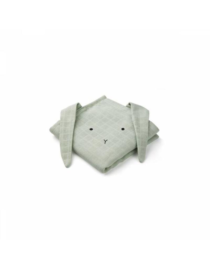 Liewood Set van 2 tetradoeken | Rabbit | Dusty Mint