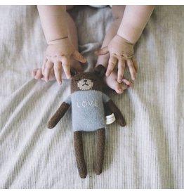 "Main Sauvage Teddy soft toy ""love"", blue"