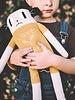 Main Sauvage Big loris soft toy, mustard