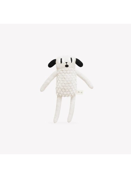 Main Sauvage Puppy soft toy; black and white