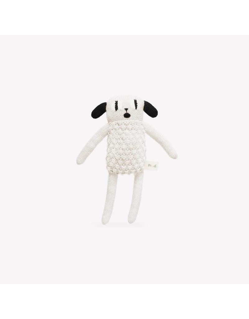 Main Sauvage Puppy soft toy, black and white