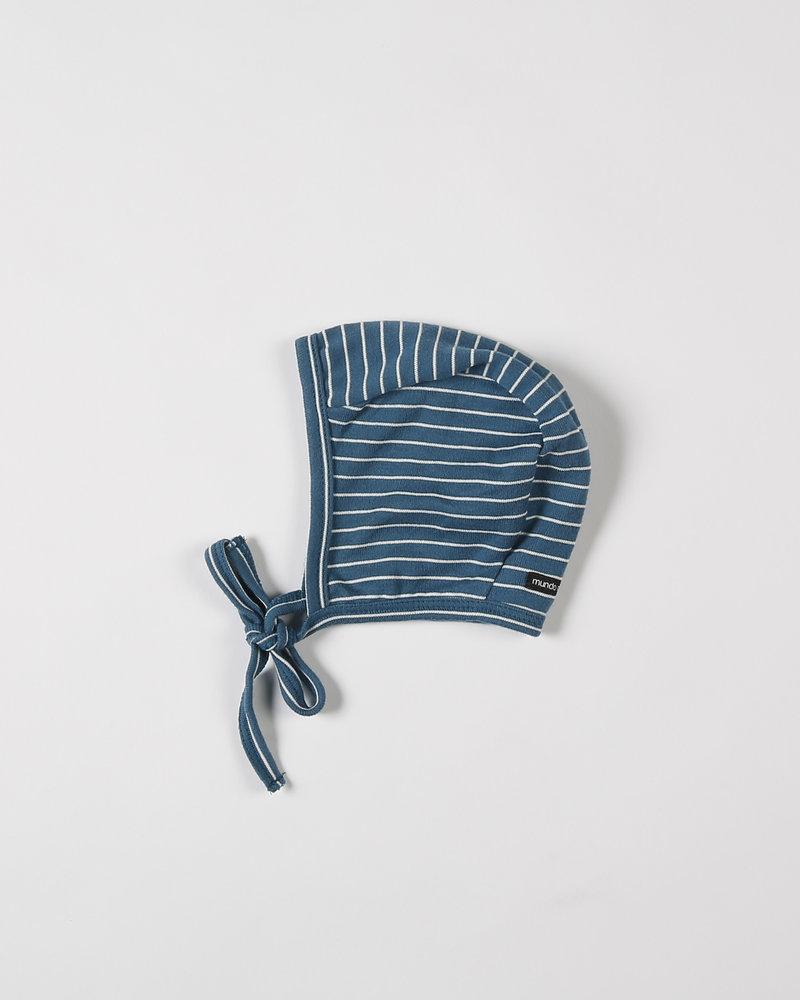 Mundo Melocotón Baby bonnet Seaqual Siska La Línea Teal