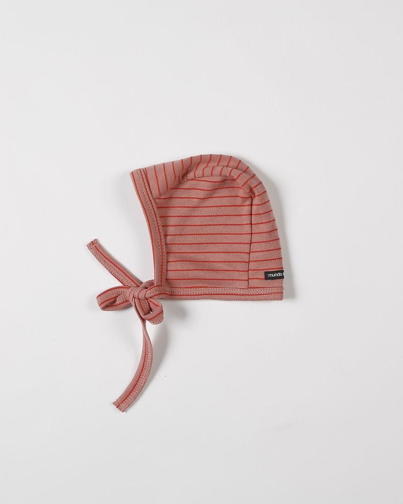 Mundo Melocotón Baby bonnet Seaqual Siska La Línea Blush