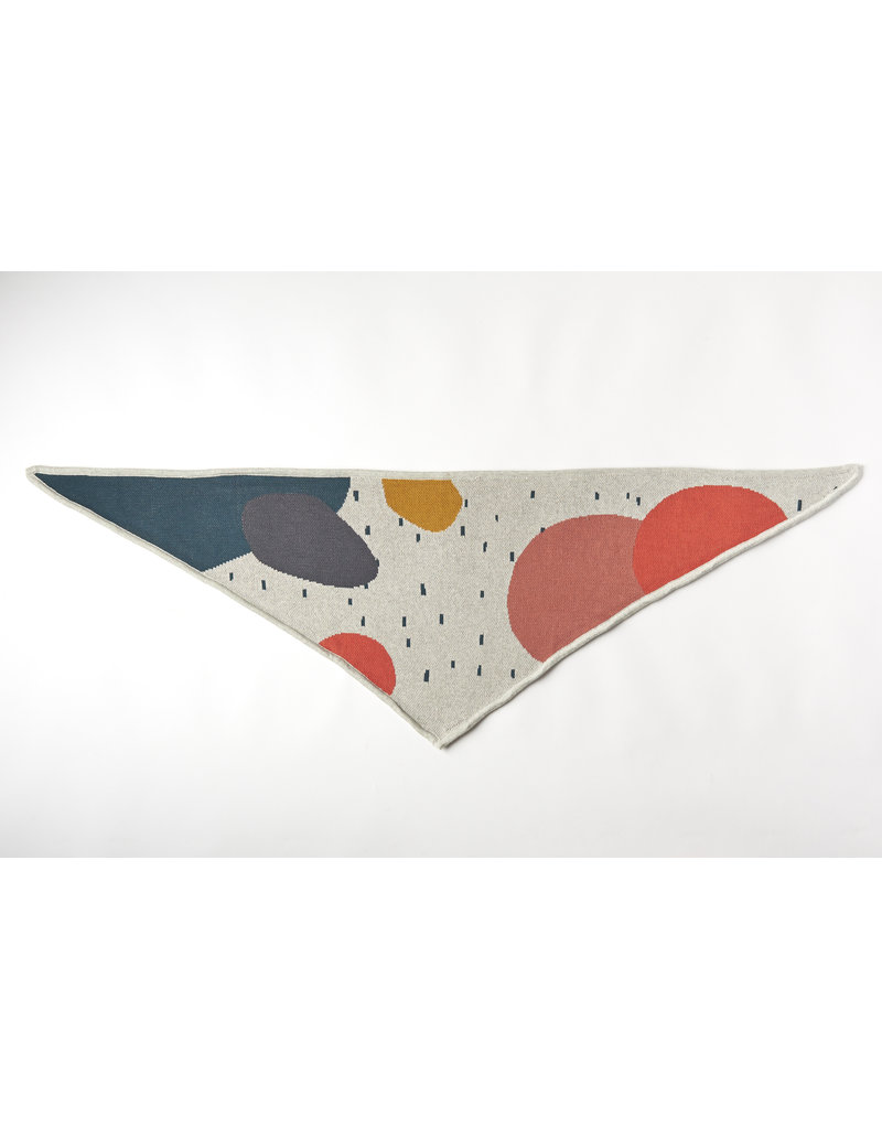 Mundo Melocotón Triangle Sjaal Organic Knitwear Jacquard