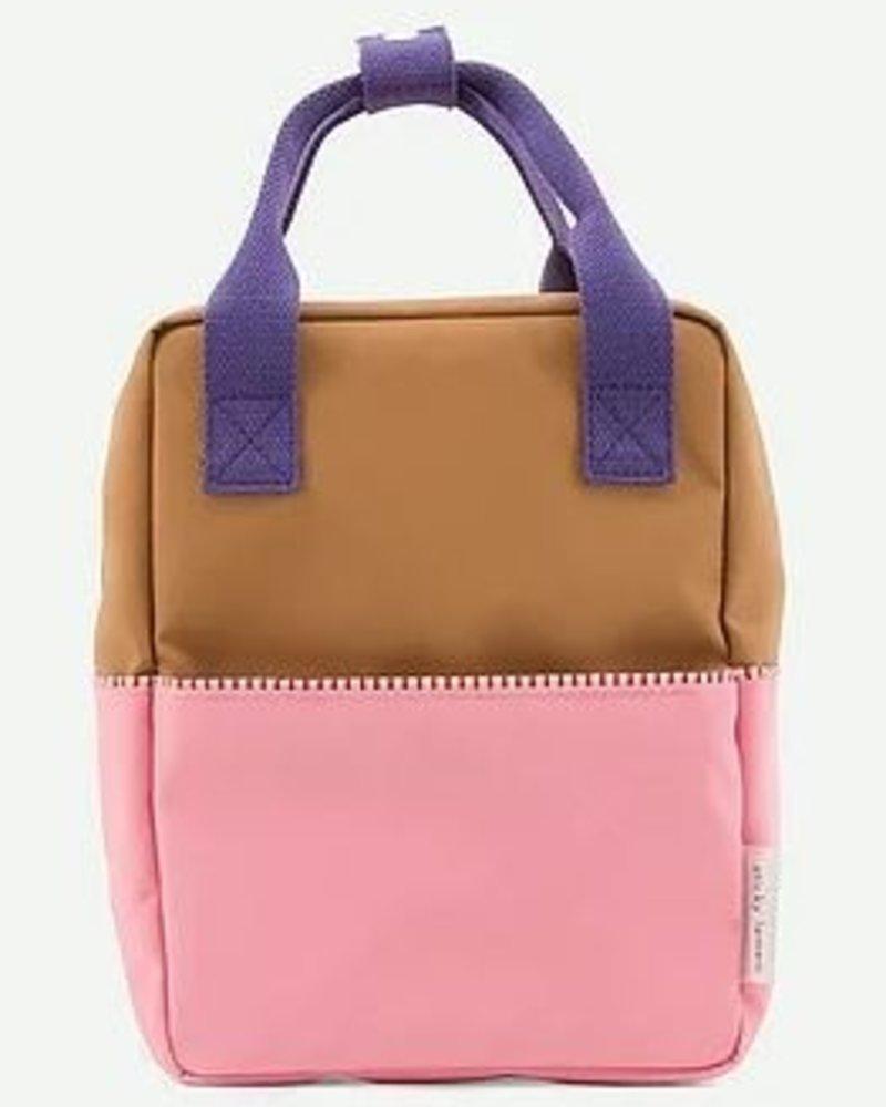 Sticky Lemon Rugzak S | Colourblock Panache gold + puff pink + lobby purple