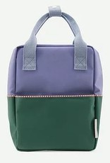 Sticky Lemon Rugzak S | Colourblock Moustafa purple + movie green + henckles blue