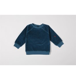 Mundo Melocotón Sweater Organic Velvet Teal