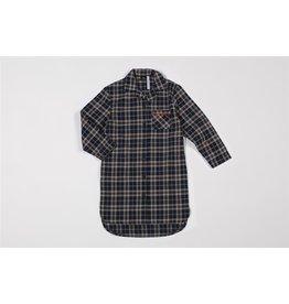 Mundo Melocotón Nachthemd met ruitjes - Siska