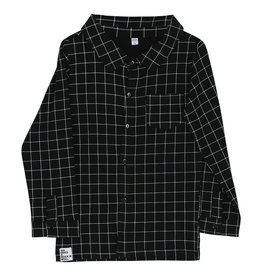 Six Hugs & Rock 'n Roll Button shirt black lines