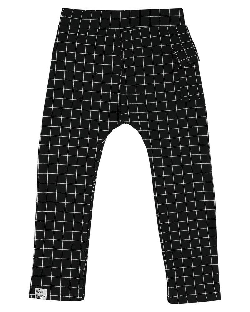 Six Hugs & Rock 'n Roll Sweatpants | Black lines