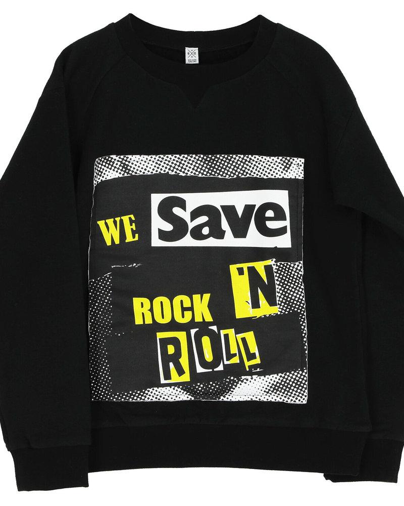 Six Hugs & Rock 'n Roll Sweater   We save rock