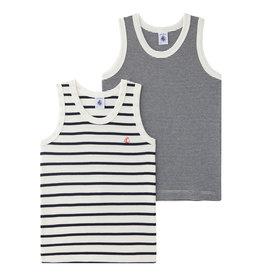 Charlie - Set van 2 gestreepte onderhemdjes