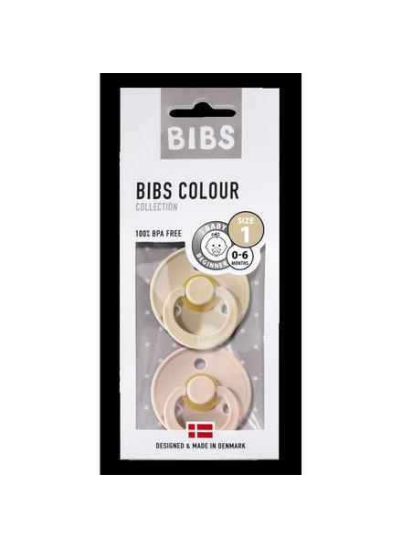 Bibs Set van 2 Bibs maat 1 - Vanilla + Blush
