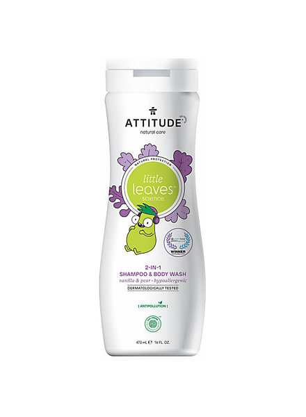 Attitude Shampoo & body wash 2 in 1 vanille peer
