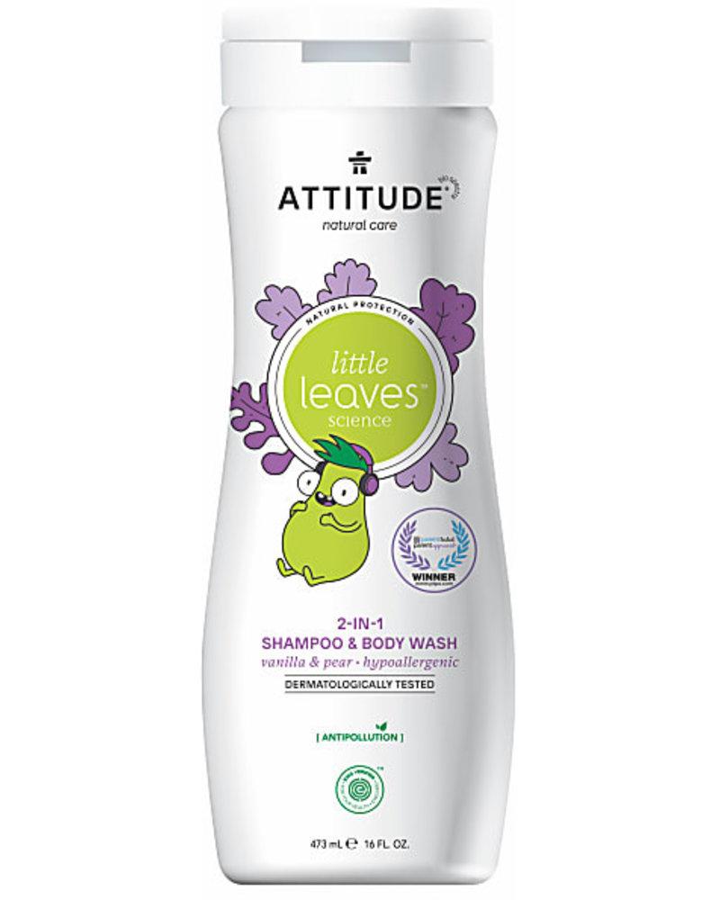 Attitude Shampoo & body wash 2 in 1 vanille peer