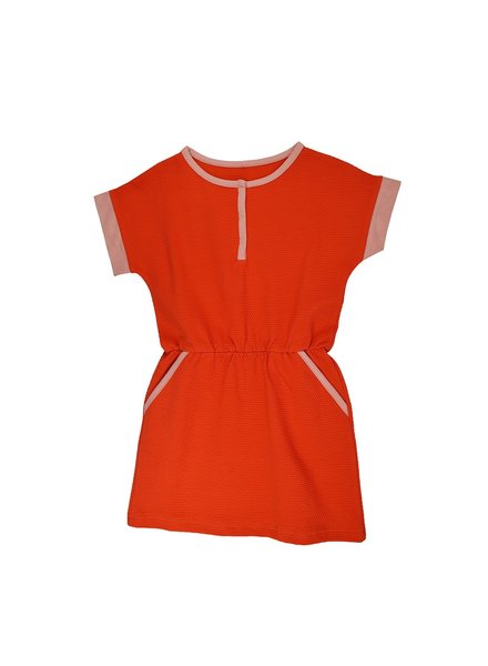 ba*ba babywear Kleedje Ymke | Jacquard Red Dots