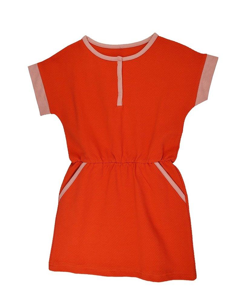 ba*ba babywear Kleedje Ymke | Jacquard Red Dots 92