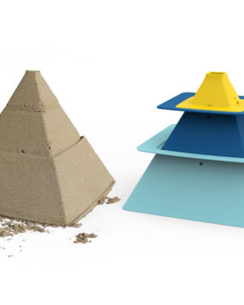 Quut Pira zandkastelenbouwhulp | Vintage blue + Deep blue + Mellow yellow