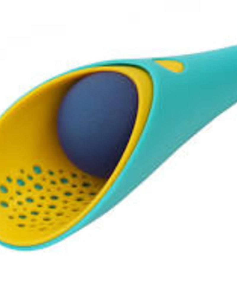 Quut Cuppi schepje + zeefje + bal | Lagoon green + Mellow yellow + Deep blue