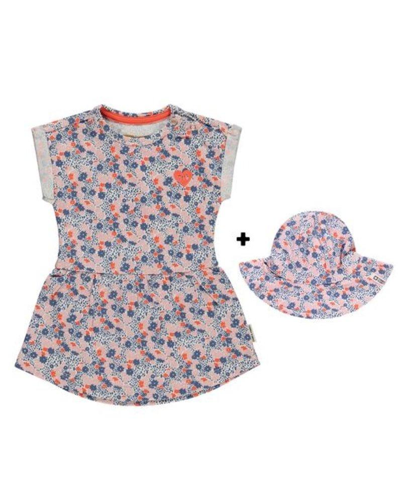 Tumble 'n Dry Gebloemd kleedje met zonnehoedje Myke