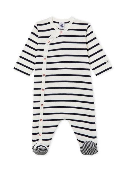 Petit Bateau Marinegestreepte pyjama - katoen