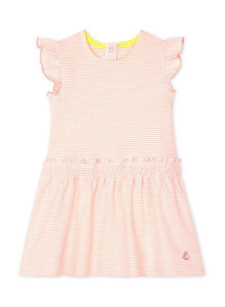 Petit Bateau Fris zomerkleedje | Oranjeroze milleraies