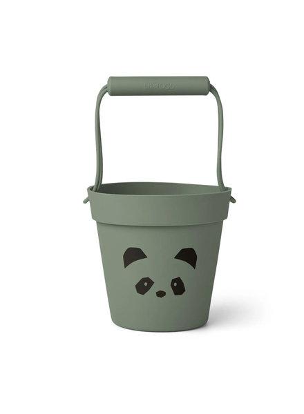 Liewood Linda siliconen emmer | Panda faune green