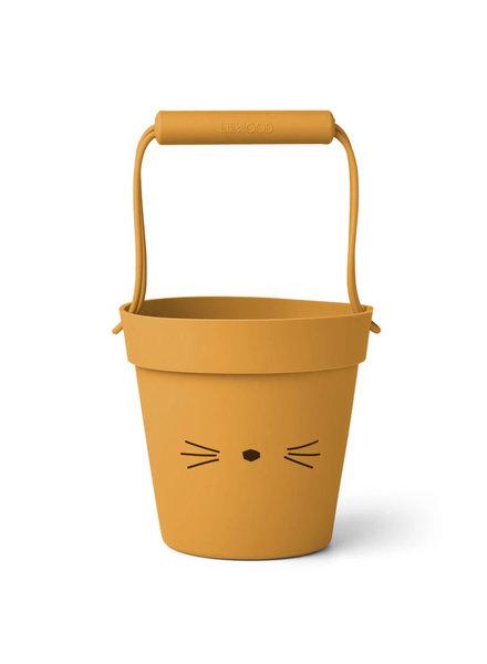 Liewood Linda siliconen emmer | Cat yellow mellow