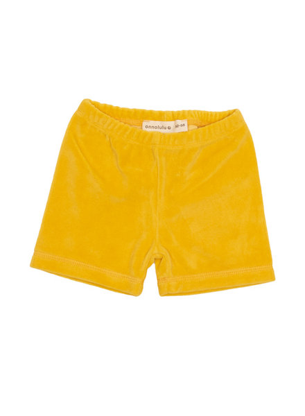 onnolulu Velours shortje Ben | Yellow