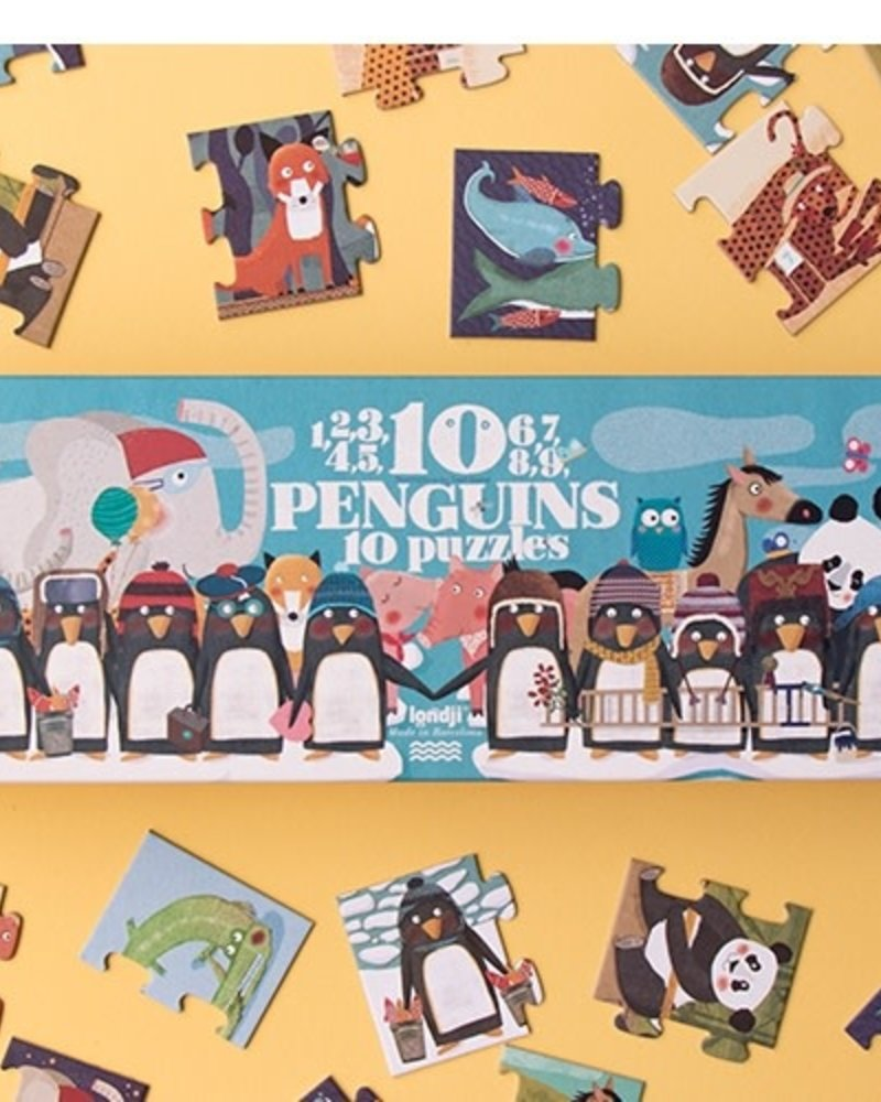 Londji 10 Penguins - Puzzel