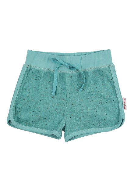 ba*ba babywear Short | Speckled terry | Aqua