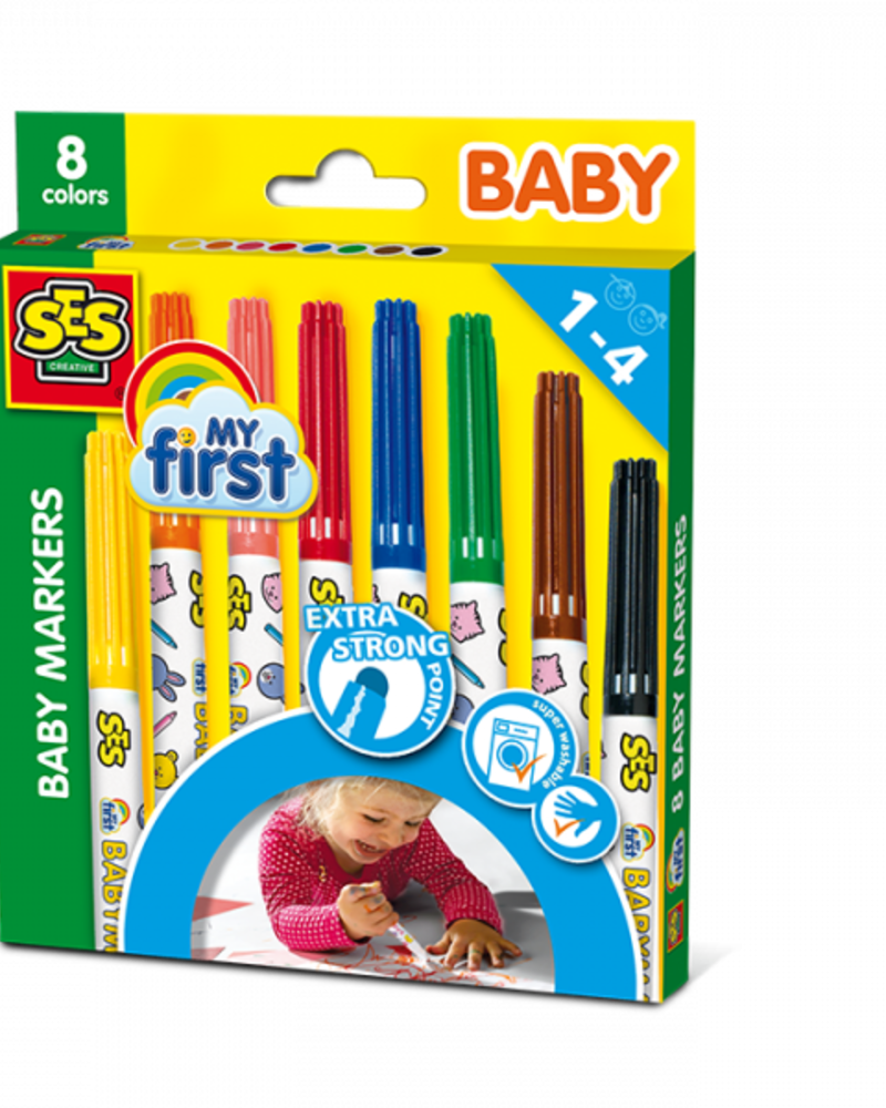 Ses Creative My First - Baby markers - 8 kleuren