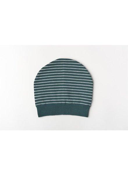 Mundo Melocotón Muts Organic Knitwear Stripes La Línea Teal