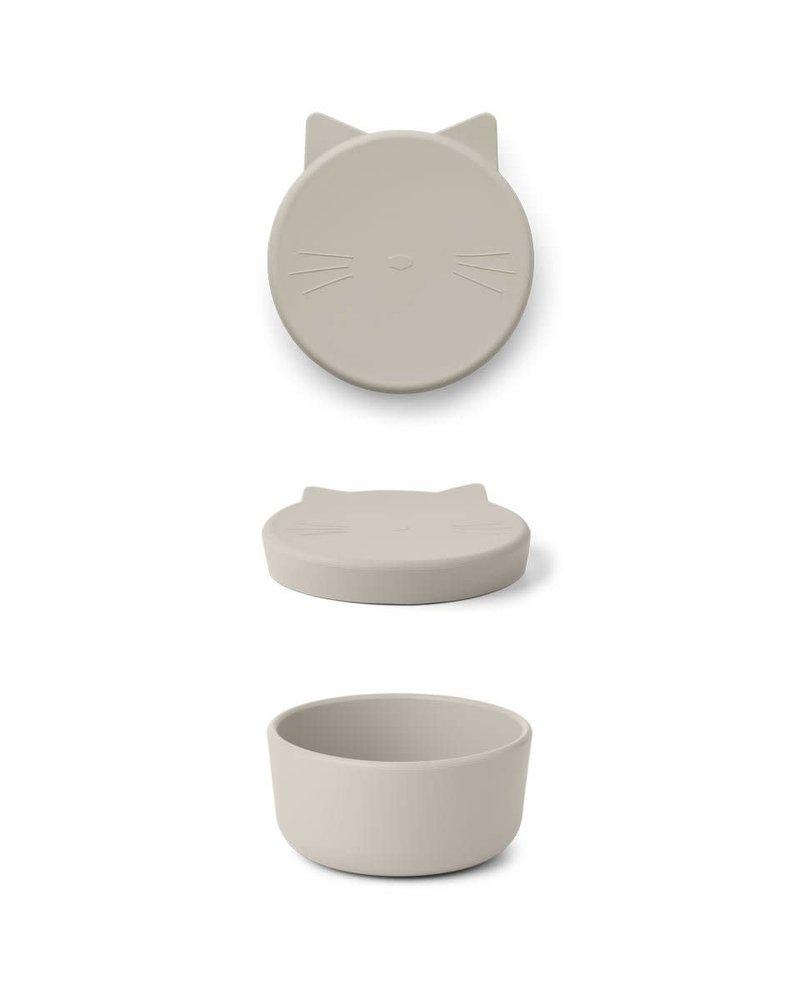 Liewood Cornelis Snack box Medium | Cat sandy