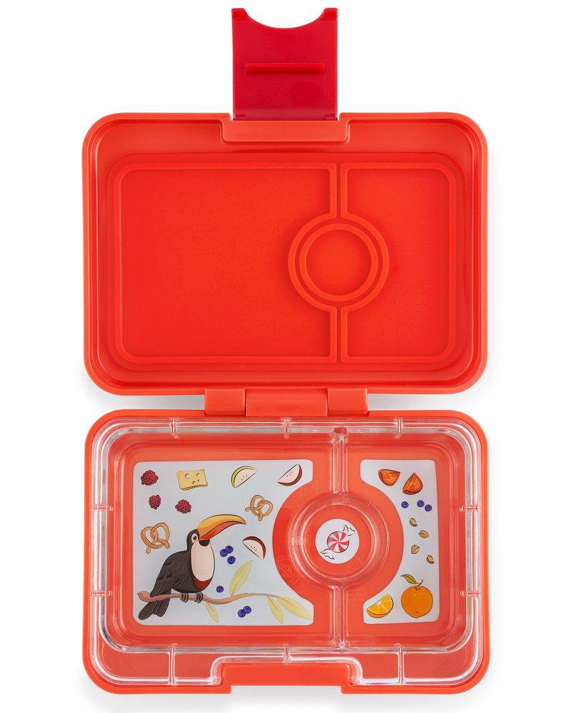 Yumbox MiniSnack 3 vakken | Saffron oranje