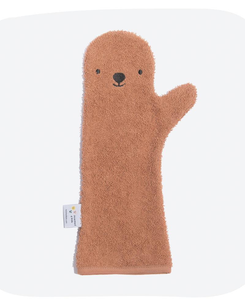 Invented4kids Baby shower glove | Bear brown
