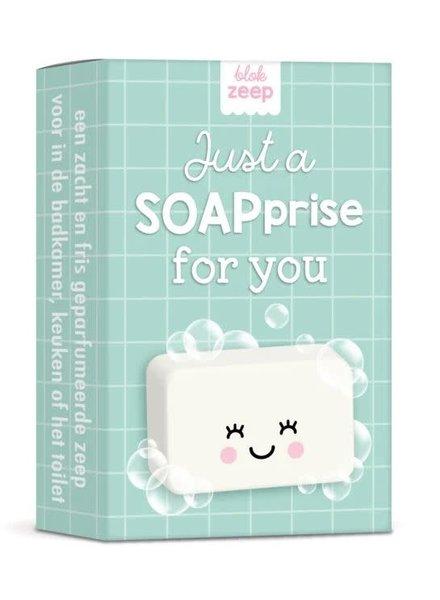 Studio Schatkist Zeepje 'Just a SOAPprise for you' - mintgroen