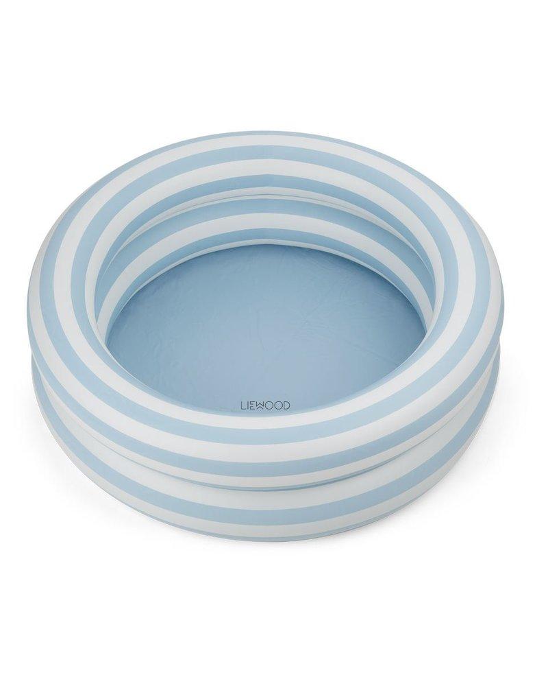 Liewood Leonore zwembadje   Stripe Sea blue - creme de la creme