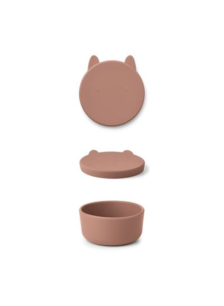 Liewood Charlot Snack Box |  Rabbit Dark Rose
