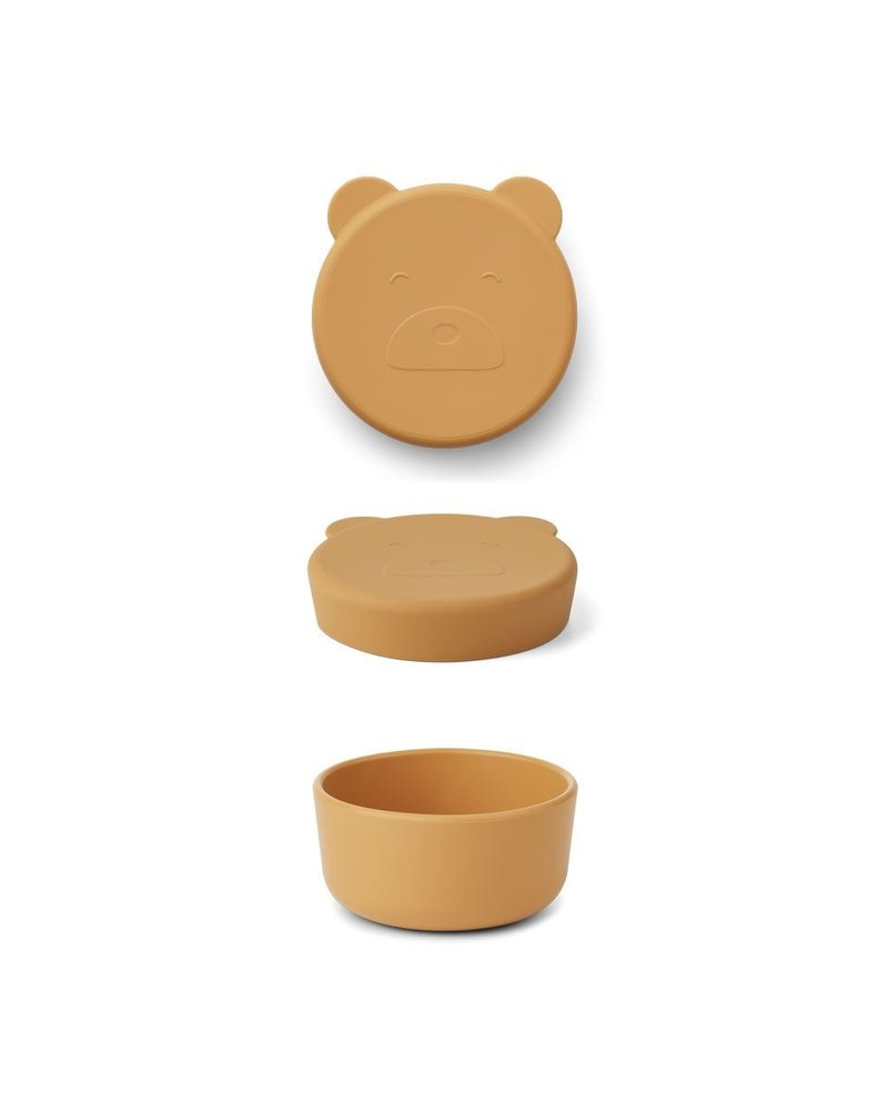 Liewood Carrie snackdoosje | Mr Bear Yellow Mellow