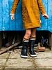 ba*ba babywear Pocket dress | Checked mustard