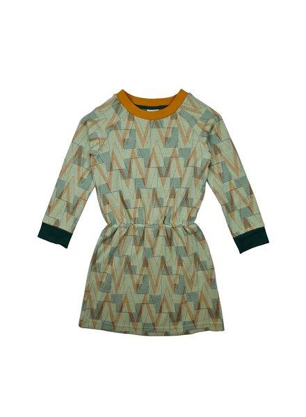 ba*ba babywear Sweater Dress | Geometric Jacquard