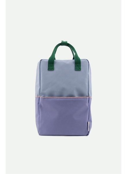 Sticky Lemon Rugzak Large | colourblocking moustafe purple + henckles blue + movie green
