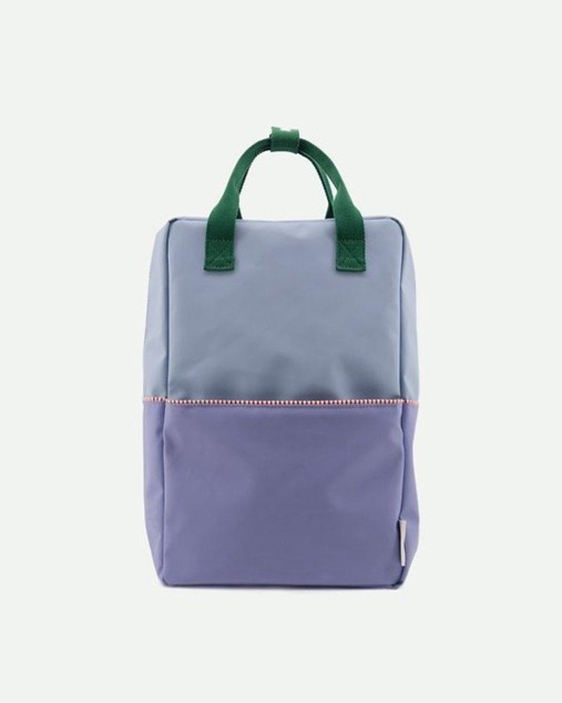 Sticky Lemon Rugzak Large | colourblocking moustafe purple + henckles blue + movie green - PROMO