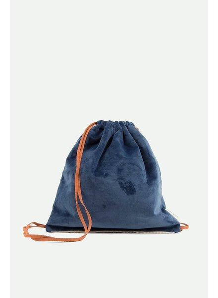 Sticky Lemon Drawstring bag + teddy dark blue + rusty red + soft pink