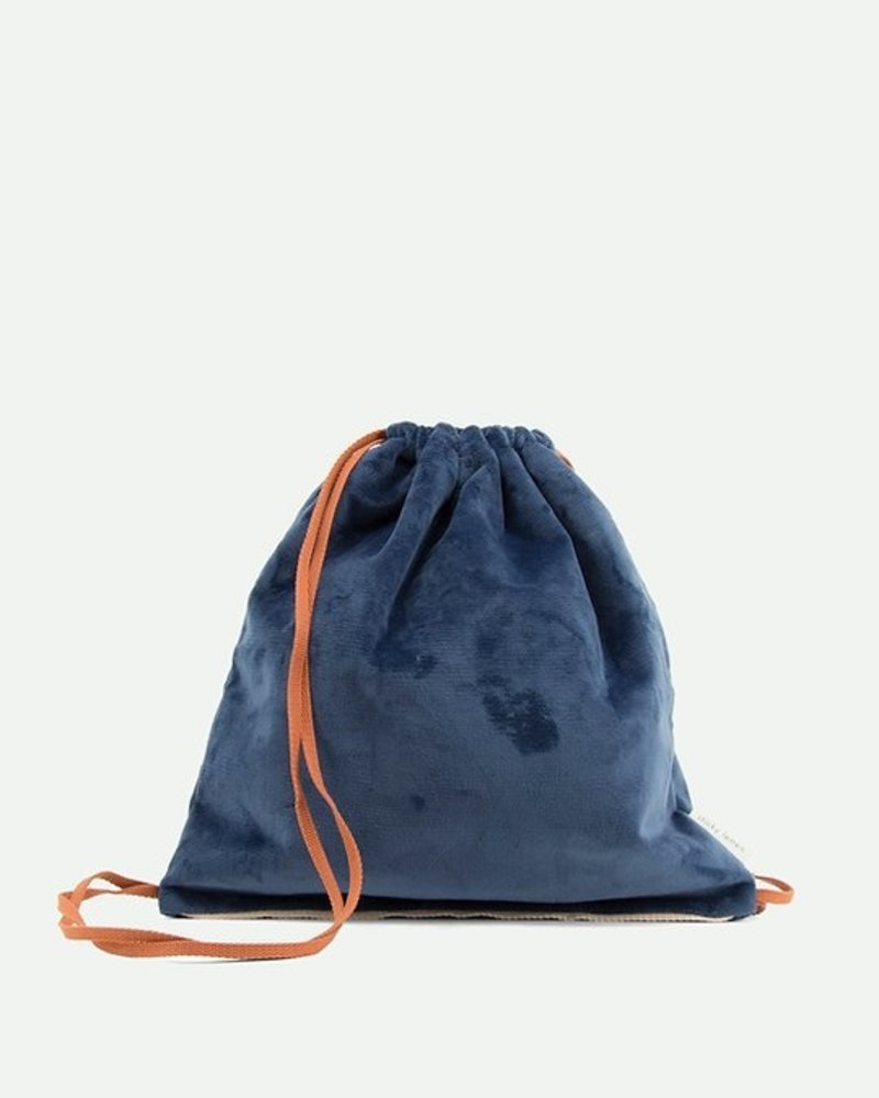 Sticky Lemon Drawstring bag + teddydark blue + rusty red + soft pink